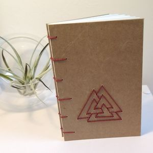 Valknut Viking Symbol Coptic Stitch Journal